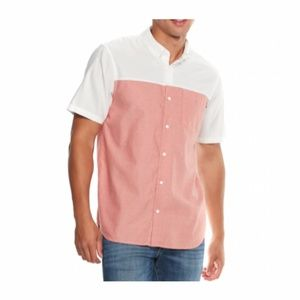 Vans Men's Off  Wall White Heather Red Shirt NWT